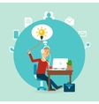 office worker with an idea vector image