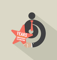 6th Years Anniversary Typography Design vector image vector image