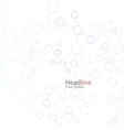 abstract background with molecule structure vector image vector image