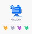 account profile report edit update 5 color glyph vector image vector image