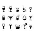 alcohol icons set vector image vector image