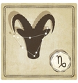 astrological sign - capricorn vector image vector image