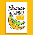 banana summer fruit sticker fashion patch element vector image
