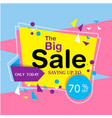 banner the big sale saving up to 70 image vector image vector image