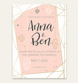 beautiful romantic invitation card vector image vector image
