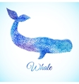 Blue Watercolor whale vector image vector image