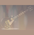 blues guitar faded background vector image vector image