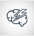 brain disease logo icon design vector image vector image