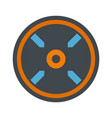 circle aim target icon flat style vector image vector image