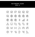 cloud computing network outline icon set vol2 vector image
