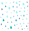 Cute drop seamless pattern vector image