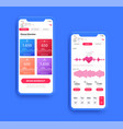 different ui ux gui screens fitnes app and flat