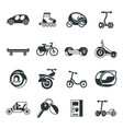 digital eco transport icons set vector image vector image
