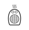 domestic portable heater outline single isolated vector image vector image