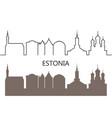 estonia vector image vector image