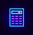 financial calculator neon vector image