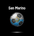 flag of san marino in the form of a soccer ball vector image vector image