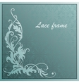 floral ornament with paper vector image vector image
