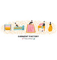 garment factory horizontal vector image vector image