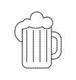 glass of beer foam cold fresh drink beverage vector image vector image