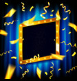 gold glitter square frame vector image