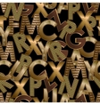 Gold letters seamless vector image vector image