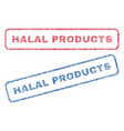 halal products textile stamps vector image vector image