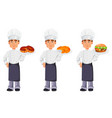handsome baker in professional uniform vector image vector image