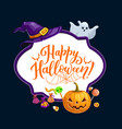 happy halloween trick or treat party frame vector image vector image