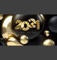 happy new 2021 year vector image vector image