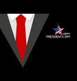 happy presidents day design vector image