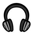 headphones music accessory icon vector image vector image