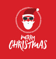 hipster santa claus greeting card or invitation vector image