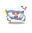 in love argentina character flag folded above vector image vector image