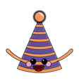 kawaii party hat decoration ornament image vector image vector image