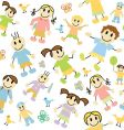 kids pattern vector image vector image