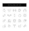 line icons set bodybuilding pack vector image vector image