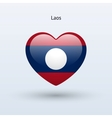 Love Laos symbol Heart flag icon vector image vector image
