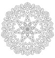 mandala with hearts for coloring book circular vector image