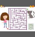 maze activity for children vector image vector image