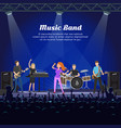 music band singers and musicians with instruments vector image