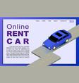 online car rental vector image vector image