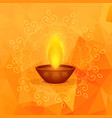 orange background with diwali festival diya and vector image vector image