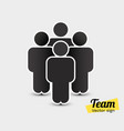 people icon in trendy flat style persons symbol vector image vector image