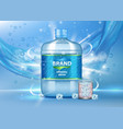pure drinking water ad realistic vector image vector image
