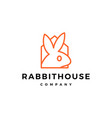 rabbit house home logo icon vector image vector image