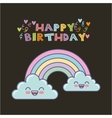 rainbow birthday card vector image vector image
