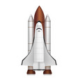 realistic 3d detailed space shuttle takes off vector image