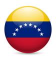Round glossy icon of venezuela vector image vector image