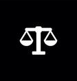 scales symbol logo vector image vector image